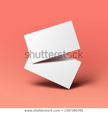 Blank Credit, Gift or Business Card Mockup. Stock photo © tashatuvango