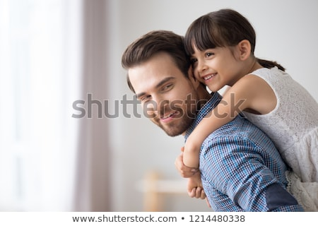 Pequeno menina desfrutar tempo pais Foto stock © vkstudio
