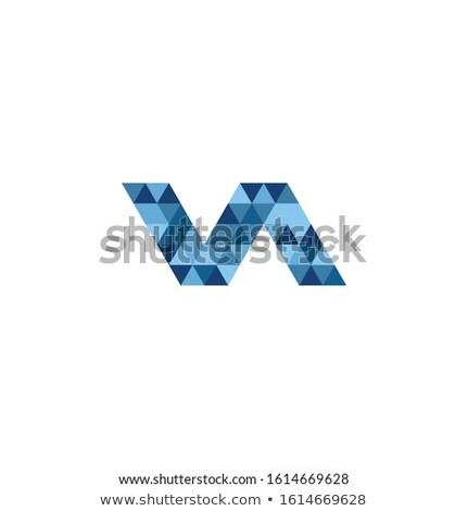 Onda ziguezague assinar geométrico logotipo tecnologia Foto stock © kyryloff