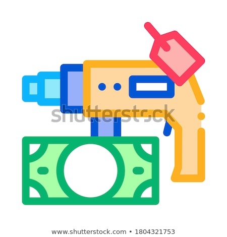 Fúró szerszám pénz ikon vektor skicc Stock fotó © pikepicture