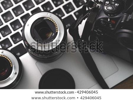 Seyahat fotoğrafçı profesyonel objektif kamera Stok fotoğraf © Maridav