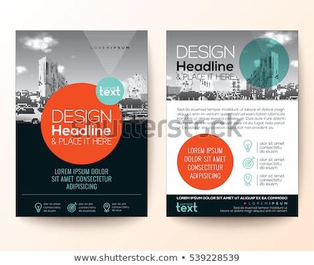 turquoise geometric business brochure presentation template desi Stock photo © SArts