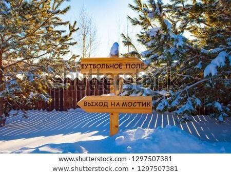 インジケータ ロシア 碑文 橋 木製 情報 ストックフォト © pzaxe