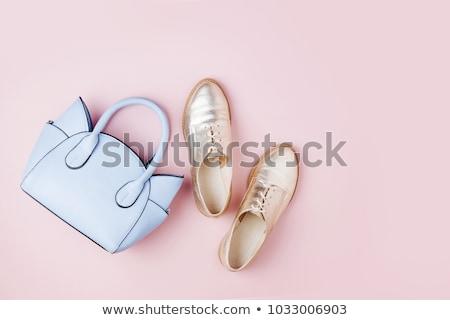 Gouden schoen business abstract achtergrond winkelen Stockfoto © shawlinmohd