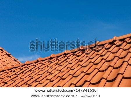 roof tile over blue sky stock photo © meinzahn