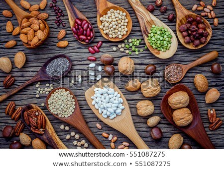 Nine spoons and red heart  Stock photo © CaptureLight