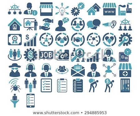 продажи воронка икона бизнеса набор стиль Сток-фото © ahasoft