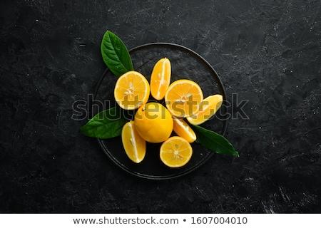 Fatia fresco limão isolado branco Foto stock © Digifoodstock