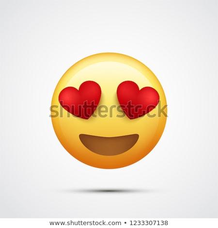 Sevmek ifade bilgisayar gülümseme kalp imzalamak Stok fotoğraf © yayayoyo