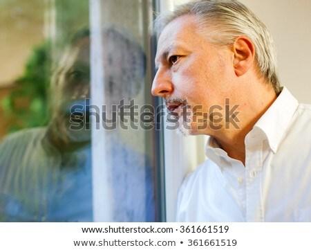 senior · manager · naar · buiten · venster · kantoor - stockfoto © Minervastock