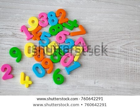 Children with numbers one to four on boards Stock photo © colematt