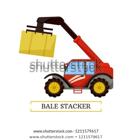 Bale Stacker Farming Machine Vector Illustration Stock photo © robuart