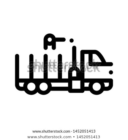 Delivery Loading Straw Truck Vector Thin Line Icon Stock photo © pikepicture
