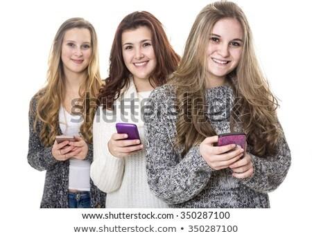 üç genç kızlar çekici kız el Stok fotoğraf © Lopolo