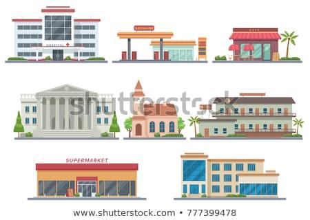 Vektör modern bina beton renkli örnek şehir Stok fotoğraf © karetniy