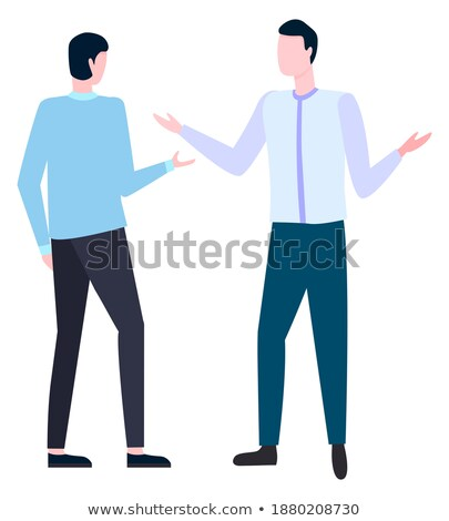People Arguing How to Write Business Plan. Vector Stock photo © robuart