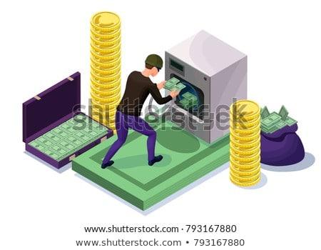 Laundered Cash Money isometric icon vector illustration Stock photo © pikepicture