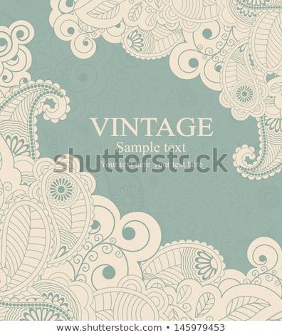 beige vintage greetings background eps 8 stock photo © beholdereye