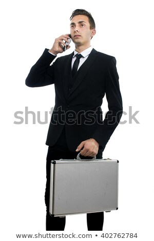 Fiatal üzletember aktatáska üzlet mosoly városi Stock fotó © Paha_L