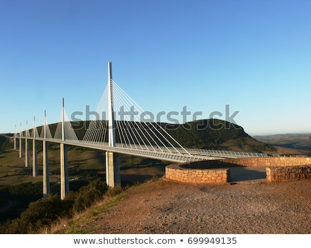 Millau Viaduct, Aveyron Stock photo © phbcz