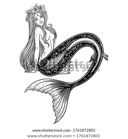 lány · snorkeling · női · tenger · felfedez · szépség - stock fotó © carodi