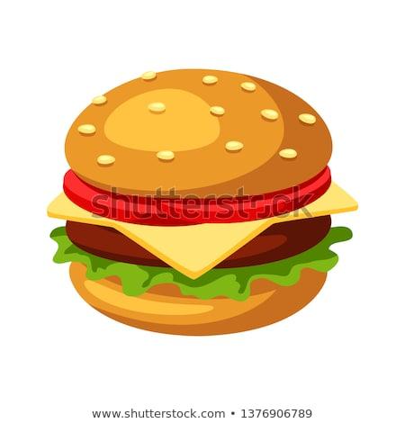 hús · hamburgerek · disznóhús · marhahús · főtt · tűz - stock fotó © ozaiachin