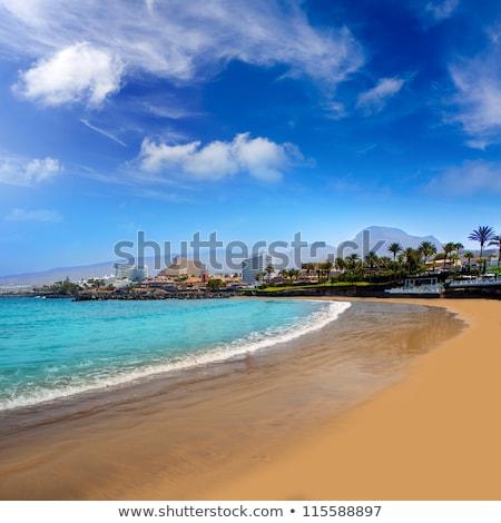 Sahil plaj güney tenerife gökyüzü Stok fotoğraf © lunamarina