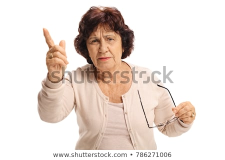 Woman threatening with her finger isolated on white background Stock photo © photography33