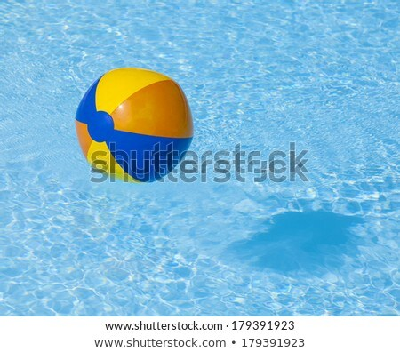 inflated plastic ball flying in the pool Stock photo © meinzahn