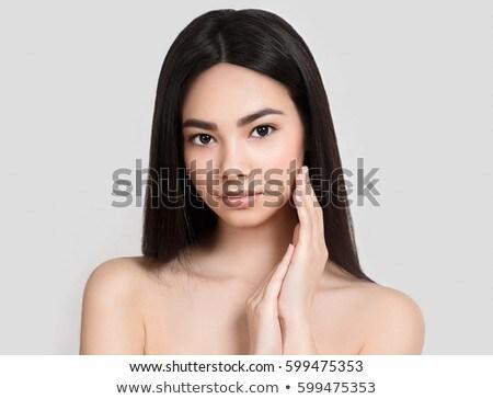 Vers dagelijks make mooie vrouw model gezicht Stockfoto © vwalakte