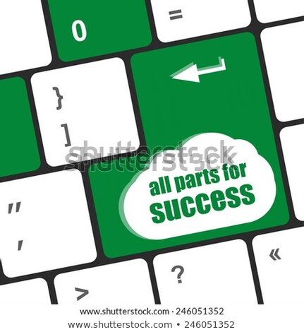 all parts for success button on computer keyboard key stock photo © fotoscool