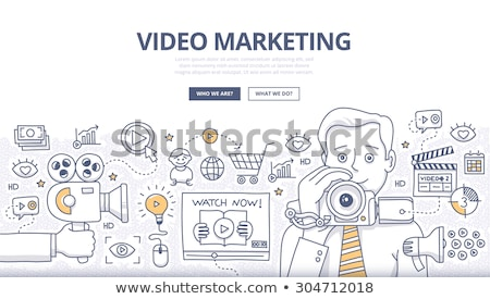 видео · маркетинга · болван · дизайна · стиль · интернет - Сток-фото © davidarts