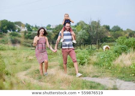 mutlu · çocuk · erkek · yıl · park - stok fotoğraf © lopolo