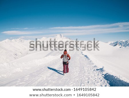Skiers stand on a snowy mountainside. Stock photo © ConceptCafe