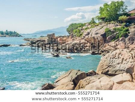 Ogród kamień popularny turystycznych miejsc Wietnam Zdjęcia stock © galitskaya