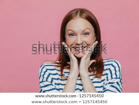 Ritratto donna sorridente guancia sorriso Foto d'archivio © vkstudio