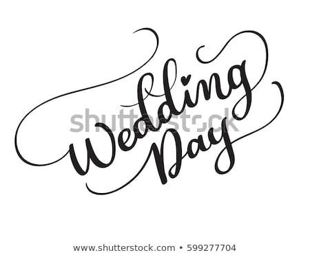 Giorno wedding manoscritto calligrafia mano Foto d'archivio © Anna_leni