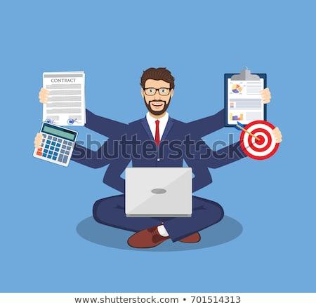 Man taken laptop drukke manager kantoor Stockfoto © robuart