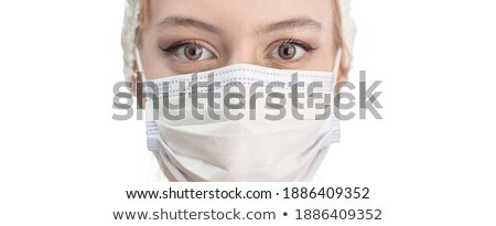 Doctor wearing protection face mask against coronavirus. Banner panorama medical staff preventive ge Stock photo © Maridav