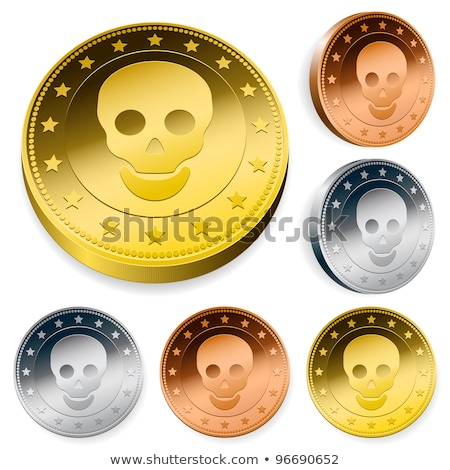 coin or token set with skull stock photo © adrian_n