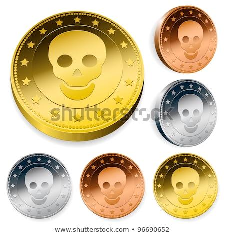 Moeda conjunto crânio três moedas central Foto stock © adrian_n