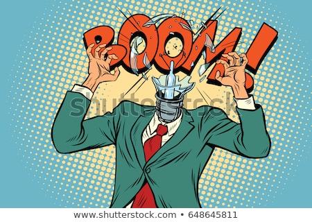 Stressed Businessman Head Explodes Stock fotó © studiostoks