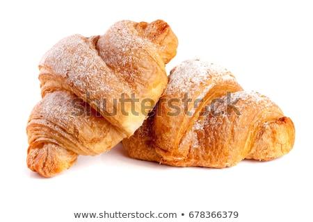 croissants · isolado · branco · dois · comida · fundo - foto stock © ozaiachin