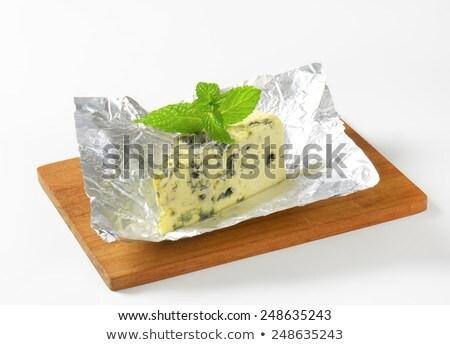 Formaggio alluminio formaggio tipo gorgonzola cuneo prodotto isolato Foto d'archivio © saddako2