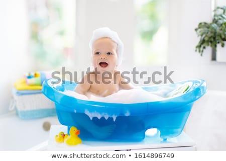 Baby vasca illustrazione bambino acqua sorriso Foto d'archivio © adrenalina