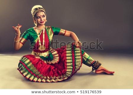 Indian dance illustrazione tramonto donne bellezza Foto d'archivio © adrenalina