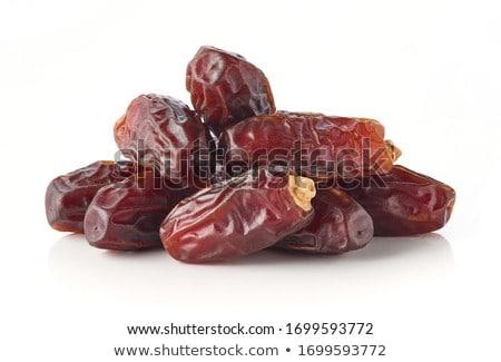 secas · datas · isolado · frutas · data · palma - foto stock © ozaiachin