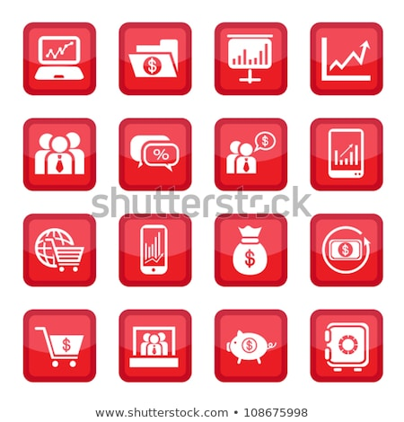 office bag red vector icon button stock photo © rizwanali3d