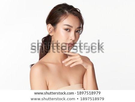 retrato · belo · jovem · outono · mulheres · olhos - foto stock © Mikko