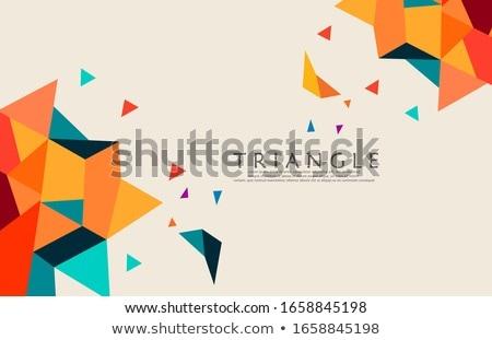 красивой · белый · треугольник · аннотация · 3d · иллюстрации · шаблон - Сток-фото © imaster